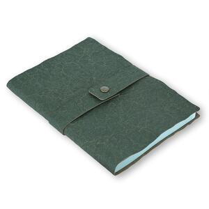 Quaderno brossurato Santa Fe medio a pagine bianche. Verde - 2