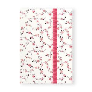 Quaderno brossurato Clip Notes piccolo a righe. Clip rossa con rombi