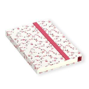 Quaderno brossurato Clip Notes piccolo a righe. Clip rossa con rombi - 2