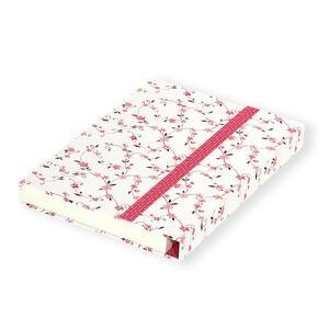 Quaderno brossurato Clip Notes piccolo a righe. Clip rossa con rombi - 3