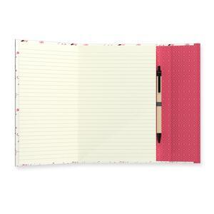 Quaderno brossurato Clip Notes piccolo a righe. Clip rossa con rombi - 4