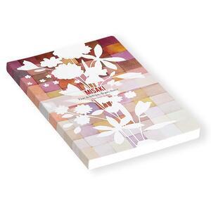 Quaderno brossurato Misaki piccolo a pagine bianche. Fiore bianco - 2