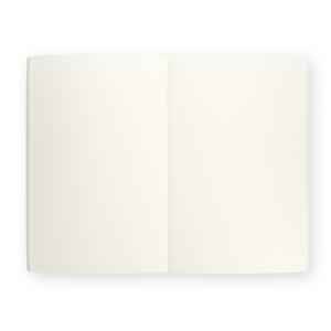 Quaderno brossurato Misaki piccolo a pagine bianche. Fiore bianco - 3