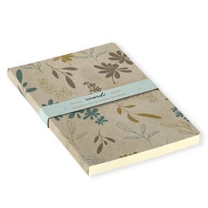 Quaderno brossurato Ricordi piccolo a pagine bianche. Fiori azzurri - 2