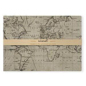 Sketch Book brossurato Ricordi medio a pagine bianche. Cartina geografica
