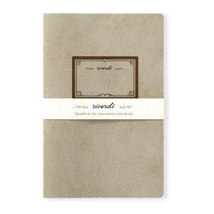 Quaderno punto singer Ricordi medio a pagine bianche. Etichetta nuova