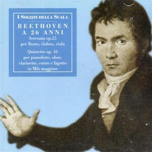 Serenata per flauto, violino e viola op.25 - CD Audio di Ludwig van Beethoven,Fabrizio Meloni