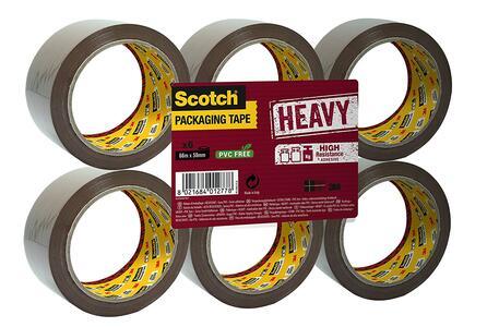 Nastro Da Imballo Scotch Heavy In Pacco Da 6 Rotoli