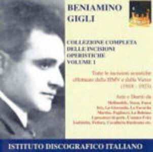 Incisioni operistiche vol.1 - CD Audio di Beniamino Gigli