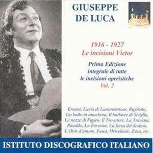 Incisioni vol.2 1902-1907 - CD Audio di Giuseppe De Luca