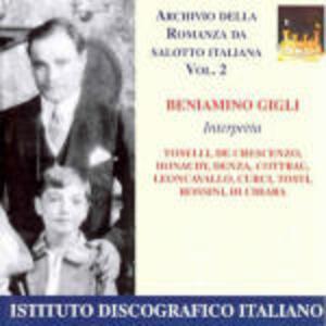 Romanza da salotto italiana vol.2 - CD Audio di Beniamino Gigli