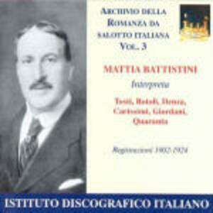 Romanza da salotto italiana vol.3 - CD Audio di Mattia Battistini