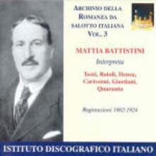 Romanza da salotto italiana vol.3 - CD Audio di Mattia Battistini