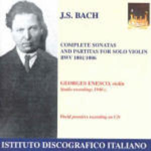 Sonate e Partite per violino - CD Audio di Johann Sebastian Bach,George Enescu
