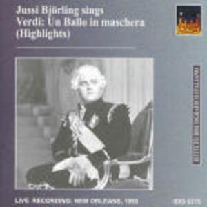 Un ballo in maschera - CD Audio di Giuseppe Verdi,Jussi Björling