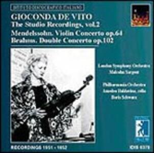 Registrazioni 1951-1952 - CD Audio di Johannes Brahms,Felix Mendelssohn-Bartholdy,Gioconda De Vito