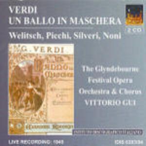 Un ballo in maschera - CD Audio di Giuseppe Verdi,Vittorio Gui,Glyndebourne Festival Orchestra