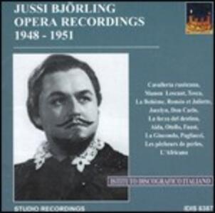 Registrazioni operistiche 1948-1951 - CD Audio di Jussi Björling