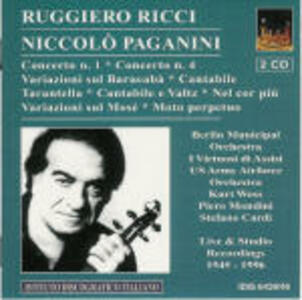 Concerti per violino n.1, n.4 - Brani per violino - CD Audio di Niccolò Paganini,Ruggiero Ricci
