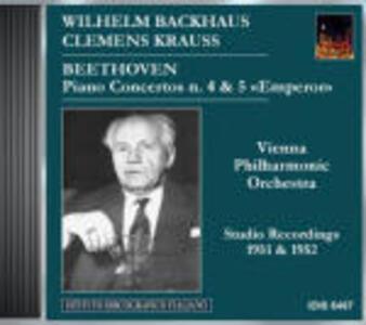 Concerti per pianoforte n.4, n.5 - CD Audio di Ludwig van Beethoven,Wiener Philharmoniker,Wilhelm Backhaus,Clemens Krauss