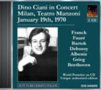 Al Teatro Manzoni 1970 - CD Audio di Dino Ciani