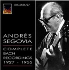 Integrale delle registrazioni bachiane 1927-1955 - CD Audio di Johann Sebastian Bach,Andrés Segovia