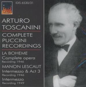 La Bohème - Manon Lescaut - CD Audio di Giacomo Puccini,Arturo Toscanini,NBC Symphony Orchestra
