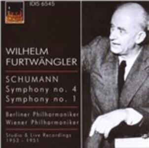Sinfonia n.4 - Sinfonia n.1 - CD Audio di Robert Schumann,Wilhelm Furtwängler,Berliner Philharmoniker,Wiener Philharmoniker