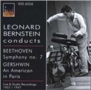 Sinfonia n.7 / Un Americano a Parigi - CD Audio di Ludwig van Beethoven,George Gershwin,Leonard Bernstein,RCA Victor Symphony Orchestra