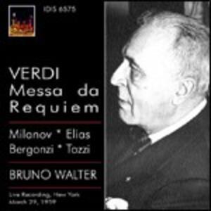 Messa da Requiem - CD Audio di Giuseppe Verdi,Bruno Walter,Carlo Bergonzi,Zinka Milanov,Metropolitan Orchestra
