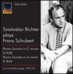 Sonate per pianoforte D845, D958 - CD Audio di Franz Schubert,Sviatoslav Richter