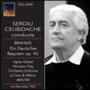 Un Requiem tedesco (Ein Deutsches Requiem) - CD Audio di Johannes Brahms,Sergiu Celibidache,Orchestra Sinfonica RAI di Milano