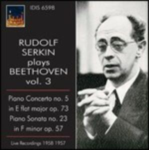 Concerto per pianoforte n.5 - Sonata per pianoforte n.23 - CD Audio di Ludwig van Beethoven,Rudolf Serkin,Franco Caracciolo,Orchestra Alessandro Scarlatti di Napoli