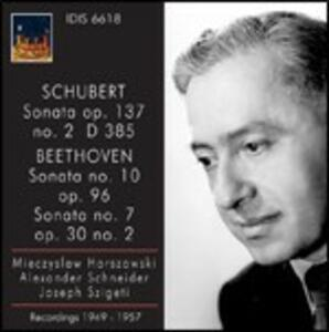 Sonata per pianoforte D385 / Sonate per pianoforte n.7, n.10 - CD Audio di Ludwig van Beethoven,Franz Schubert,Mieczyslaw Horszowski