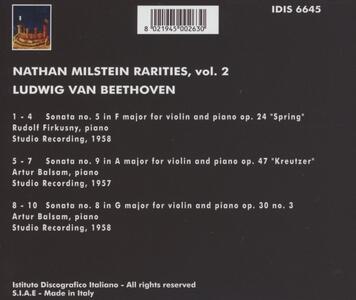 Rarities vol.2 - CD Audio di Ludwig van Beethoven,Nathan Milstein - 2