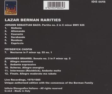 Rarities - CD Audio di Lazar Berman - 2