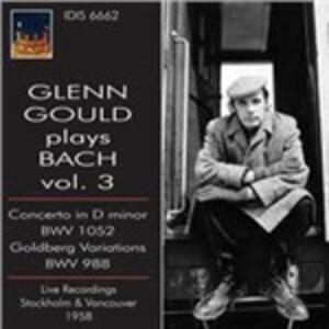 Concerto n.1 BWV1052 - Variazioni Goldberg BWV988 - CD Audio di Johann Sebastian Bach,Glenn Gould,Swedish Radio Symphony Orchestra,Georg Jochum