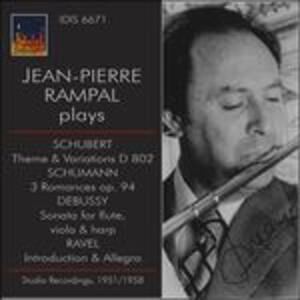 Musica per flauto - CD Audio di Claude Debussy,Maurice Ravel,Franz Schubert,Robert Schumann,Jean-Pierre Rampal