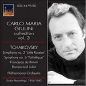 Carlo Maria Giulini Collection vol.3 - CD Audio di Pyotr Il'yich Tchaikovsky,Carlo Maria Giulini,Philharmonia Orchestra