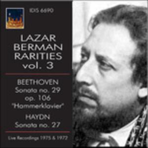 Lazar Berman Rarities vol.3 - CD Audio di Ludwig van Beethoven,Franz Joseph Haydn,Lazar Berman