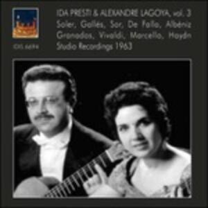 Registrazioni in studio vol.3 - CD Audio di Alexandre Lagoya,Ida Presti