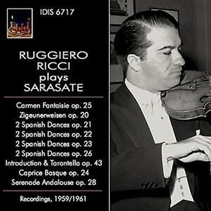 Ruggiero Ricci suona Sarasate - CD Audio di Pablo de Sarasate,Ruggiero Ricci