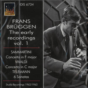 Frans Bruggen Early Recordings vol.1 - CD Audio di Frans Brüggen
