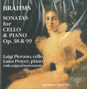 Sonata per cello e pianoforte n.1 op.38 - CD Audio di Johannes Brahms,Luigi Piovano