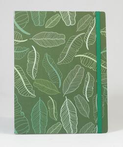 Cartoleria Taccuino puntinato OpenWorld Natura Copertina Rigida Foglie Verdi - 13x21 cm Open Wor(l)ds