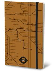 Cartoleria Taccuino Stifflexible Undergorund Collection Small. Parigi. Paris. Giallo 365