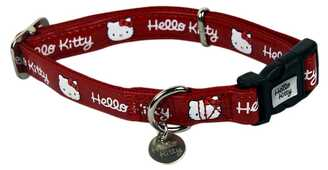 Idee regalo Collare cane rosso Hello Kitty Pampered