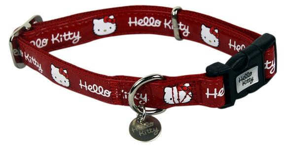 Collare cane rosso Hello Kitty
