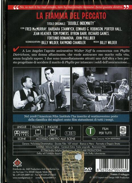 La fiamma del peccato di Billy Wilder - DVD - 2