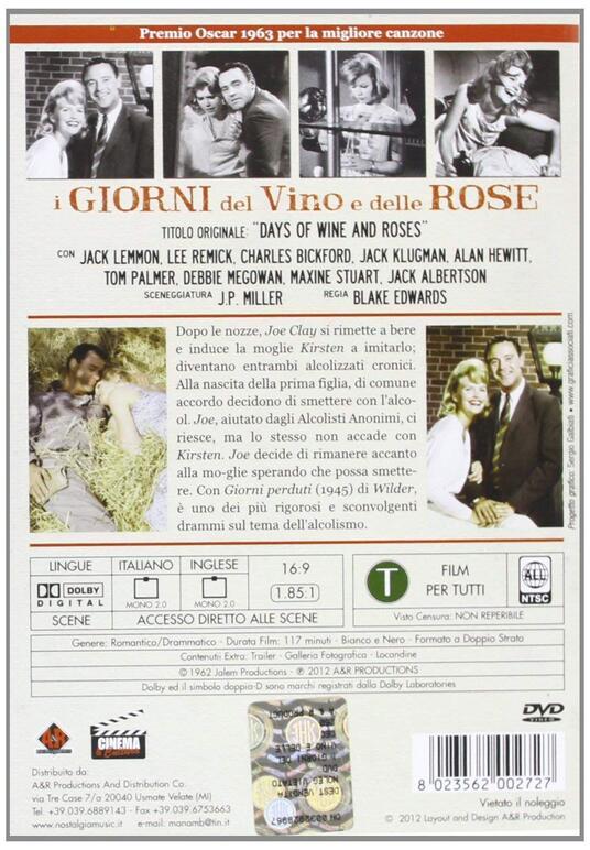 I giorni del vino e delle rose di Blake Edwards - DVD - 2